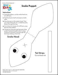 Plantilla serpiente dedo manualidades para ni os pinterest for Snake puppet template