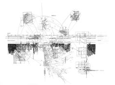 visicert: Detail of Hand Drawing - Study Analysis of House IV by Peter Eisenman by George Sinas Architecture Mapping, Architecture Graphics, Concept Architecture, Architecture Drawings, Landscape Architecture, Movement Drawing, Line Drawing, Drawing Style, Drawing Tips