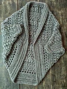 Crochet Shrug Pattern, Crochet Cardigan, Crochet Patterns, Free Pattern, Crochet Cocoon, Crochet Baby, Knit Crochet, Crochet Shawls And Wraps, Crochet Bracelet