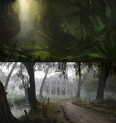 ArtStation - indoor/outdoor concept 3, Piotr Krezelewski