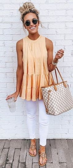 Summer Fashion Tips Cute Casual Spring Outfits Trends Pretty Looks Spring Outfits For Teen Girls, Cute Spring Outfits, Casual Summer Outfits With Jeans, White Jeans Outfit Summer, Summer Business Outfits, Summer Outfits Women Over 30, Men Summer, Dress Summer, Pretty Outfits