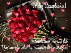 imagenes-con-movimiento-de-feliz-cumpleanos-para-whatsapp Happy Birthday Cake Images, Happy Birthday Greetings, Birthday Photos, Birthday Cards, Family Love Quotes, Good Night Messages, Happy B Day, Morning Images, Beautiful Roses