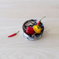 Small Poured Bowl by Troels Flensted