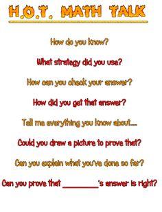 Math Talk Higher+order+thinking+questions+and+prompts+for+math+talk.Higher+order+thinking+questions+and+prompts+for+math+talk. Math Teacher, Teaching Math, Math Classroom, Teaching Ideas, Math Discourse, Math Writing, Math Talk, Higher Order Thinking, Math Questions