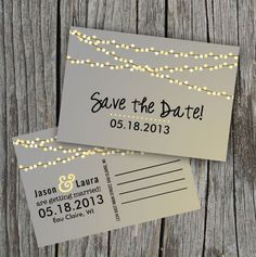 Post cards for save the dates   50 Wedding Ideas from Pinterest | StyleCaster