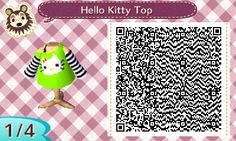 Everything New Leaf - Hello Kitty Top by Starr