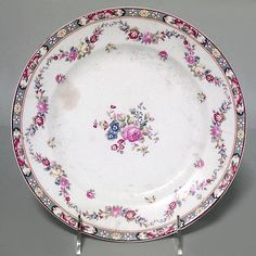 English Victorian accessories plates porcelain