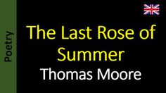 Poesia - Sanderlei Silveira: Thomas Moore - The Last Rose of Summer