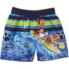 Paw Patrol Newborn Baby Boy Boy Swim Trunks, Size: 6 - 9 Months, Blue
