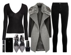"""""""shopping in the city"""" by j-n-a ❤ liked on Polyvore featuring River Island, J Brand, OPI and Christian Dior"""
