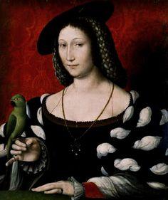 """Marguerite de Navarre. French. 1492-1549. Her texts: the poem """"Miroir de l'âme pecheresse,"""" Heptameron (1560), Marguerites de la Marguerite des princesses (1547), and Marguerites de la Marguerite des princesses (1558)."""