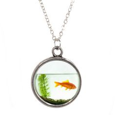 Goldfish in Bowl Design Pendant