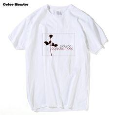 Depeche MODE Violator T Shirt 2017 Summer Depeche Mode Fashion Rose Flower Printed Tees Hip Hop Short Sleeve Top Clothing #Affiliate