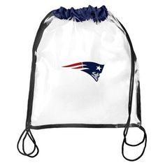 New England Patriots NFL Clear Drawstring Backpack