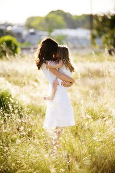 Hugs from sweet little girls make it pretty close to the top of the happiness scale.