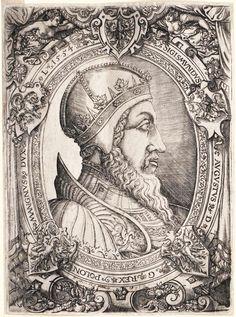 King Sigismund II Augustus by Virgil Solis, 1554 (PD-art/old), Österreichische Nationalbibliothek