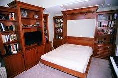 Brown remodel with Murphy bed by David Hooks Construction. http://santacruzconstructionguild.us/david-hooks-construction-services/