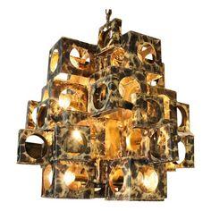 brutalist chandelier from mid2mod on vandm