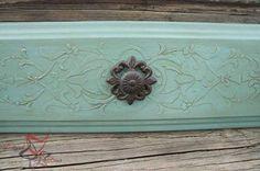Cool Idea... plaster stencil relief!