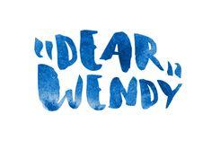 """Cute font """"Dear Wendy"""""""