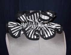 Victorian Steampunk Circus Black and White Stripe Neck Ruffled Collar by LoriAnn Costume Designs on Etsy, $27.35 AUD