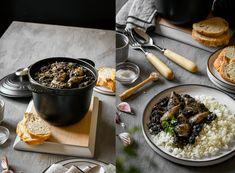 Calamares en su tinta - Blog de Claudia&Julia Salsa Italiana, Pan Frito, Queso Ricotta, Blog, Baked Potatoes, Recipes, Calamari, Spanish Cuisine, Side Dishes