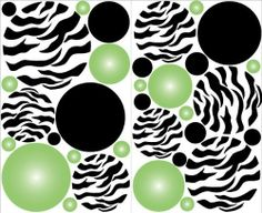 Mini- Green Radial Dot Wall Decal Stickers Decor by Presto Wall Decals. $13.99. A total of 33 individually cut out Zebra print , Radial Green and black dots wall stickers on two sheets that measure 15in by 9.1/2in.. Removable, repositionable, reusable, Made in USA. No paint, No tools, and No wallpaper paste necessary. Quick and easy peel and stick application, decorate any room in minutes. Easy to follow Instructions and helpful tips come with every order. Add some...