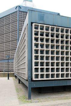 Berlin Gedächtniskirche 1961, viereckiges Foyer und Oktogon