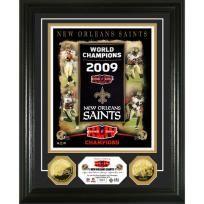 New Orleans Saints Banner Raising 24kt Gold Coin Photo Mint