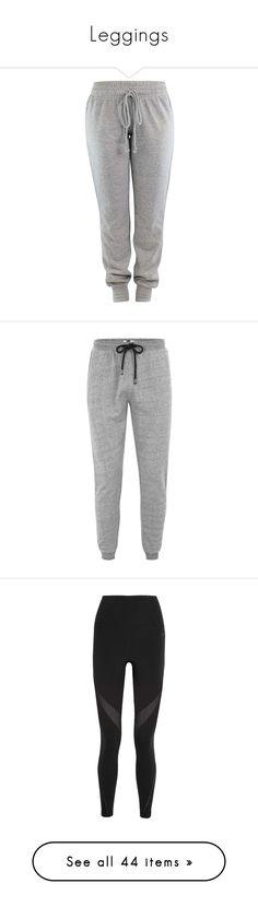 """Leggings"" by lizxlol ❤ liked on Polyvore featuring activewear, activewear pants, pants, bottoms, sweatpants, sweats, grey, drawstring sweat pants, jogger sweatpants and sweat pants"