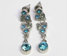 Aqua color Crystal Choker Necklace Earrings Set    #jewelry #style #fashion #beauty  #design #pinterest