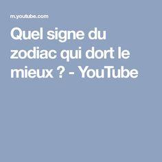 Quel signe du zodiac qui dort le mieux ? - YouTube