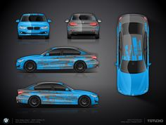 BMW 3er —graphic transition from blue to grey