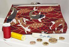 Clutch Bag - Purse - Hand Bag - Evening Bag - Toiletry Bag - Handmade bag featuring gorgeous Japanese koi fabric with metallic accents Handmade Bags, Handmade Items, Hidden House, Small Rabbit, Japanese Koi, Enamel Jewelry, Toiletry Bag, Guinea Pigs, Bag Sale