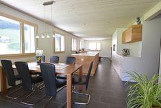 Herger Klimaholzbau AG • Spiringen Conference Room, Inspiration, Table, Furniture, Home Decor, Wooden Cottage, Homes, Biblical Inspiration, Room Decor