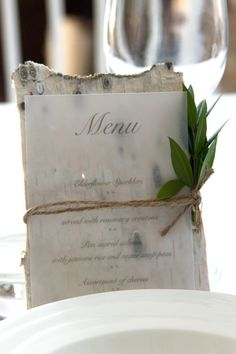 Carte invitation menu decoration naturelle menu par LesNanaseries