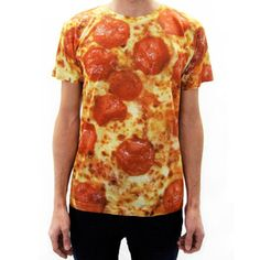 Pepperoni Pizza Shirt now featured on Fab.  Dieters beware... ha ha this shirt will make you hungry.