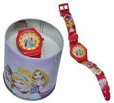Kinderuhr Disney Princess + Aufbewahrungsdose / Uhrenbox - Uhr Kinder Armbanduhr - für Mädchen - Quarz Analog Lernuhr - Quarzuhr / Box Dose - Kinder-Armbanduhr Prinzessin Rapunzel Belle - http://uhr.haus/unbekannt/ohne-namen-kinderuhr-disney-princess-uhrenbox