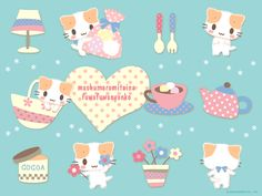 Masyumaro sanrio - He is a kitten who has orange ears and loves fashion and buttons.