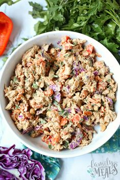 Creamy Thai Chicken Salad via @familyfresh