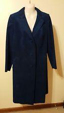 Womens Blue Leather Coat Size Medium Very Nice
