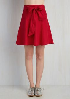 Musee Matisse Skirt in Crimson. You not only have an affinity for this famous painter - you also want to leave an impression! #red #modcloth