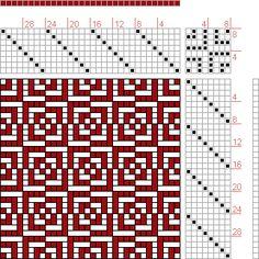 Hand Weaving Draft: Page 258, Figure 5, Orimono soshiki hen [Textile System], Yoshida, Kiju, 8S, 8T - Handweaving.net Hand Weaving and Draft Archive