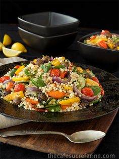 Mediterranean Roasted Vegetable and Pearl Pasta Salad - An amazingly delicious, healthy salad!