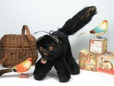Cinders a black kitty probably a Farnell C1930