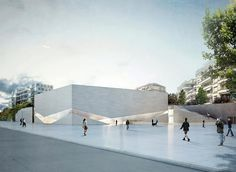 aires mateus' museum in lausanne will house two major institutions Architecture Design, Museum Architecture, Cultural Architecture, Architecture Drawings, Facade Design, Concept Architecture, Landscape Architecture, Lausanne, Casa Farnsworth