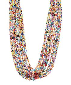 Take a look at this Rainbow Beaded Necklace today!