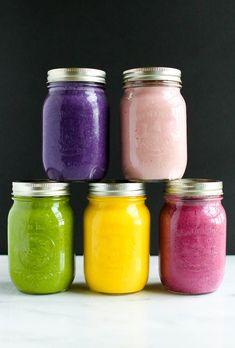 MAKE AHEAD MASON JAR SMOOTHIES. Protein packed, high fibre, nutritious, healthy, speedy, breakfast.