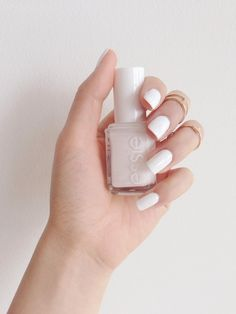 turn up the whites with 'blanc'. White Nail Polish, Essie Nail Polish, White Nails, Gorgeous Nails, Love Nails, How To Do Nails, Pretty Nails, My Nails, Perfect Nails