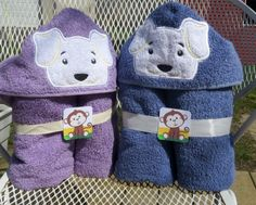 Fluffy Pup Hooded Towel: you can choose colors